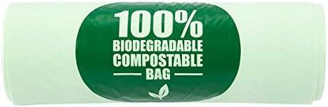 Juvale 100 bolsas biodegradables para compost – bolsas de basura ...