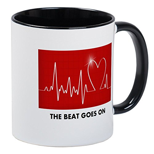 CafePress The Beat Goes On Funny Post Heart Surgery Mugs Unique Coffee Mug, Coffee ()