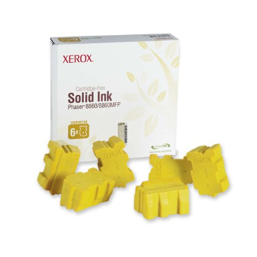 - Genuine Xerox Yellow Solid Ink Sticks for the Phaser 8860/8860MFP  Yellow (6 pcs/Box), 108R00748