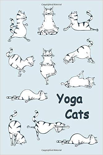 Journal: Yoga Cats (Blue) 6x9 - DOT JOURNAL - Journal with ...