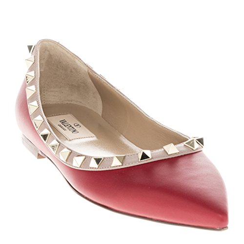 valentino-womens-bi-color-rockstud-pointed-toe-ballerina-flat-leather-red-nude-mauve-eu-375-us-75