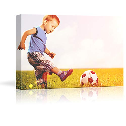 NWT Custom Canvas Prints with Your Photos for Kids Aging, Personalized Canvas Pictures for Wall to Print Framed 16x24 inches (Personalized 16 Print)