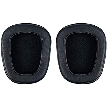 Black Pleather for Logitech G633 G933 G533 Artemis Spectrum Gaming Headset misodiko Replacement Ear Pads Cushions Headphones Repair Parts Earmuff Earpads Cup Pillow Cover