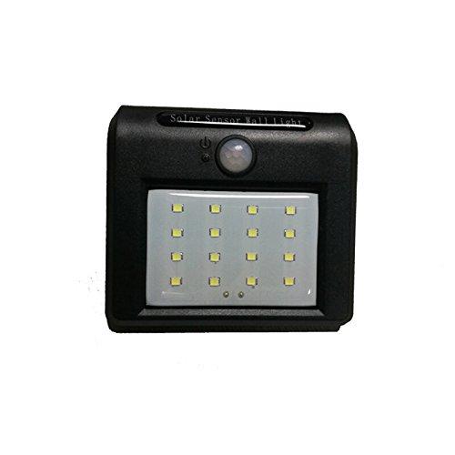 16leds Solar Powerdライト、モーションセンサーライト、ワイヤレスLEDセキュリティ屋外ウォールガーデンランプ、パティオ、デッキ、庭、ガーデン、ホーム B06XJSDCZB 17392