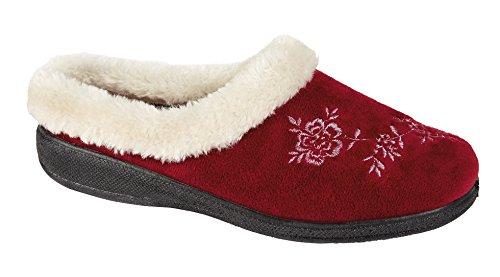 De mujer para senderismo para mujer Zapatillas las cuatro estaciones zapatos de espuma con efecto memoria antideslizante-en la parte de metal 3 8 - disponibles de distintos tamaños Rojo - granate