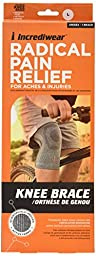 Incredibrace Compression Athletic Bamboo Charcoal Knee Sleeve Large
