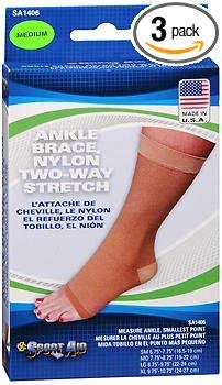 Sport Aid Ankle Brace Medium SA1406-1 brace, Pack of 3