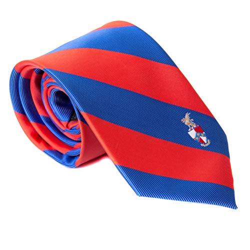 Beta Theta Pi Fraternity Necktie Tie Greek Formal Occasion Standard Length Width (Striped Crest Necktie) -