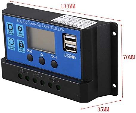 Ctzrzyt 10A 12V 24V Auto Arbeit PWM Solar Laderegler mit LCD Dual USB 5V Ausgang Solar Cell Panel Ladegeraet Regulato