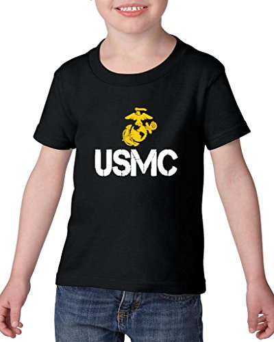 ARTIX USMC US Marine Corps People Fashion Clothing Best Friend Xmas Mothers Day Gifts Heavy Cotton Toddler Kids T-Shirt Tee Clothing 3T Black
