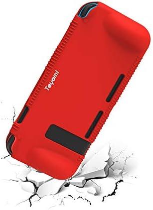 Teyomi - Carcasa de Silicona para Nintendo Switch (Incluye Protector de visualización de Vidrio Templado), Rojo 6