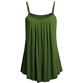 Leedford Womens Plus Size Cami Basic Camisole Loose Tank Top