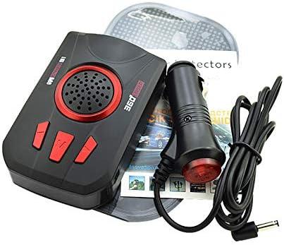 d/étection /électronique de Radar /à Angle de 360 degr/és Radarwarner Affichage LED Compteur Mobile /à 16 Bandes avec d/étecteur de Radar /à 360 degr/és