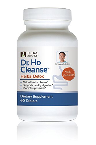 Dr. Ho Natural Herbal Detox Formula with Probiotics | Reduce Toxins and Impurities | Helps with Constipation, Bloating & Gas| Cleanse Your Colon | Safe and Natural Supplements for Men and Women