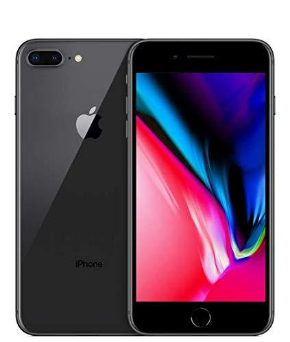 Apple iPhone 8 Plus, GSM Unlocked, 64GB - Space Gray (Renewed) (Iphone Cell Phones Unlocked)
