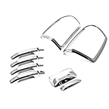 Sizver Chrome Handle+TailGate+TailLight Covers For Chevy Silverado 25004 door model only