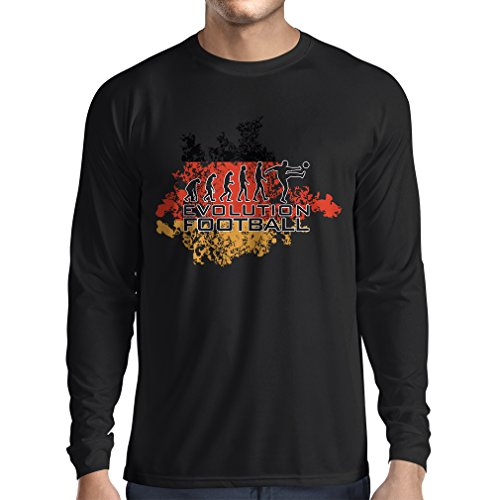 fan products of N4453L Long Sleeve t Shirt Men Football Evolution - Germany (Large Black Multi Color)