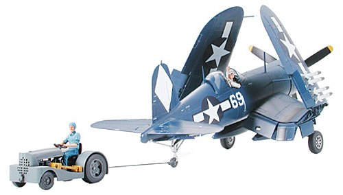 Tamiya Vought F4U-1D Corsair With Moto-Tug – 1:48 Scale plastic model kit