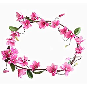 Artificial & Dried Flowers - 180cm Sakura Cherry Rattan Wedding Arch Decoration Vine Artificial Flowers Home Party Decor Silk Ivy - Dried Flowers Artificial 93