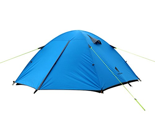 GEERTOP 3-4 Season Tent for Camping 2-3 Person Double Layer Lightweight Backpacking Freestanding Outdoor Hiking Waterproof Backpack Tents - Easy to Set Up 1 【Large Space】Tent size is 83(L) x 71(W) x 47.2(H), with extral vestibule to put the camping gears, luggage; it is a roomy camping travel dome tent with plenty of space for you and a family member or friends; Providing a comfortable and spacious outdoor shelter that comfortably fits 2 man or 3 person 【Waterproof Tent】Geertop 3 season tent - 210D PU5000 mm waterproof Oxford cloth ripstop floor + 210T PU3000 mm anti-tear plaid polyester tent fly while double-sided adhesive waterproof strip seam, ensure water does not make its way into the inside of tent , offer a comfortable camping experience 【Excellent Ventilation 】The camping inner tent made of 210T breathable polyester + high density fine nylon mesh with 2 doors + 2 ventilation windows + 2 vestibule, allowing for greater airflow throughout the tent, avoiding bothered by stuffiness