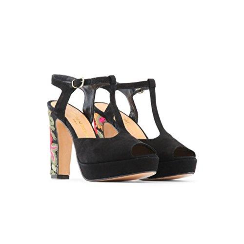 Kjole Lavet Platform Kvinder 5 I Nero Hæl Cm Italien T 2 11 Rosalinda Sandal Strop Cm rg6CXcqga