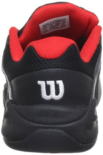 Wilson Open Junior BKBKRD WRS316940E040 Unisex-Kinder Tennisschuhe Schwarz (Black)