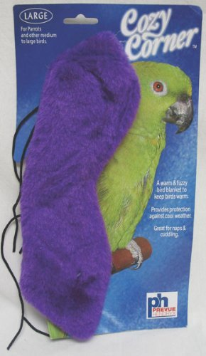 - Prevue Pet Products BPV1162 12-Inch Cozy Corner Fleece Bird Blanket, Large