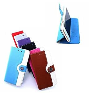HaleyL-Mouse Grain PU Leather Full Body Case with Card Slot and Stand for iPhone 6 Plus (Assorted Colors),Purple