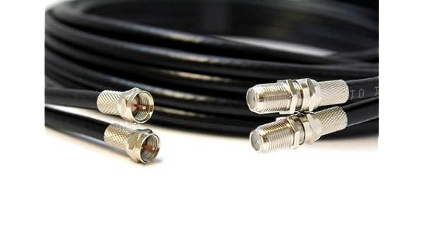 Negro 1 M TWIN COAXIAL CABLE de extensión de Satellite - apto para Sky + y Sky HD: Amazon.es: Electrónica