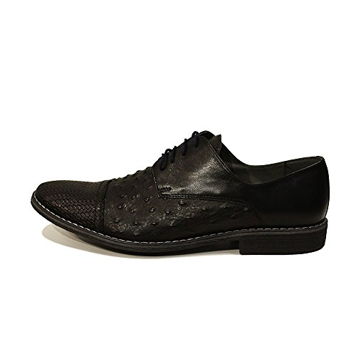 Modello Tommaso - Handmade Colorful italiennes Chaussures en cuir Oxfords Casual Souliers de Formal Prime Unique Vintage Gift Lace Up Robe Hommes