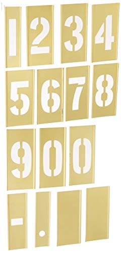 Interlocking Brass Stencils - CH Hanson 3 in Brass Number 15 Piece Interlocking Stencil Set