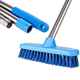 """YCUTE Scrub Brush 47'' Removable Stainless Steel Long Handle Bristle Brush with 7.4"""""""