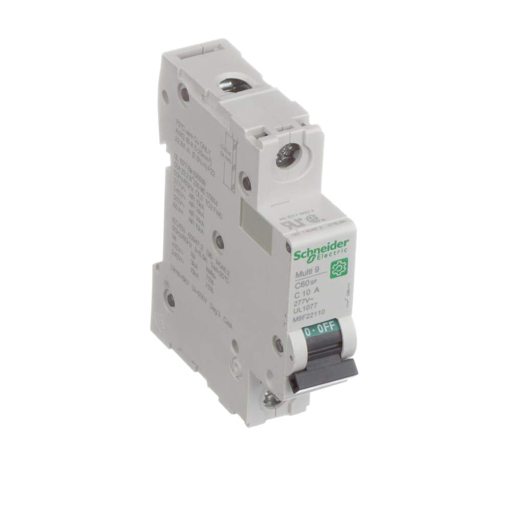 Circuit Breaker; Miniature; Multi9; 1P; 10A; C-Curve; Supplementary Protection