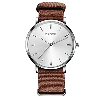 HWCOO Relojes de Pulsera Reloj de Moda SKONE/Nylon Canvas Watch (Color : 1