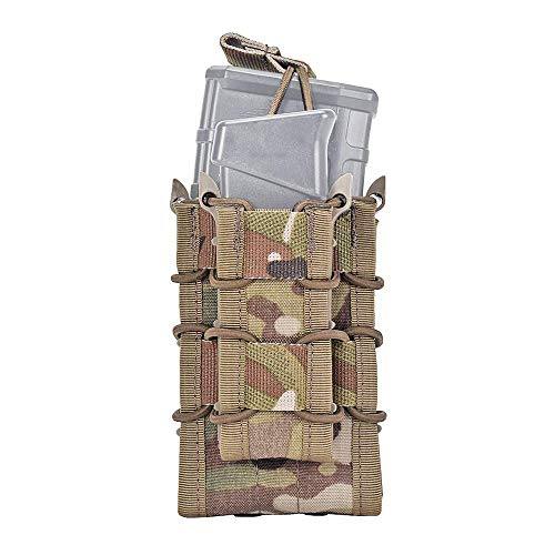 EMERSONGEAR Tactical Double M4 M16 Mag Pouch Molle Airsoft with Pistol Magazine Pouch MC ()