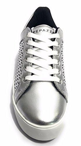 Piel Zapatillas Plateado Apepazza De Mujer Para xFwTnEvB6