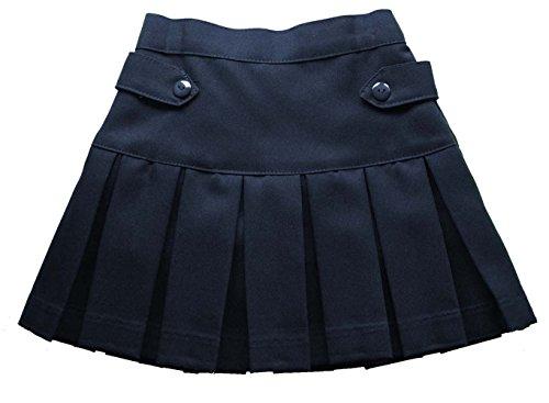 Skirt Twill Pleated - Girl Toppy School Uniform Skirt Twill Pleated Scooter (6, Navy)