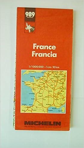 Mapa Michelin 989 France Frankreich France Francia Amazon Co