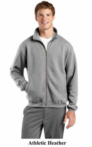 Ae Mens Sweater (Upscale Men's Athletic Full Zip Fleece Sweatshirt - Athletic Heather,)