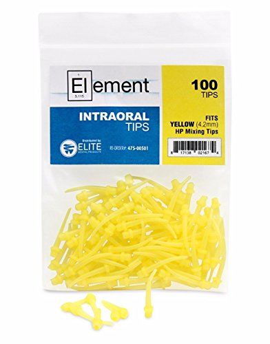 Element Intraoral Mixing Tips - Yellow (Bag of 100)