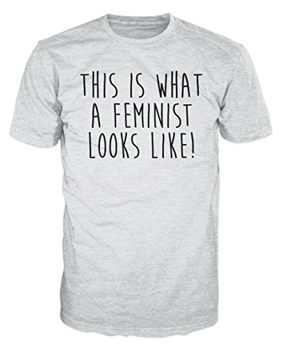 This is What A Feminist Looks Like T-Shirt (M, Ash - Like Looks Feminist Is This What T-shirt A