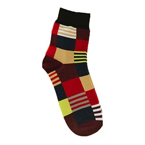 Multi Color Womens Socks - Kanzd Fashion Women Men Casual Cotton Medium Socks Design Multi-Color Socks Short Socks Soft Sox (A)