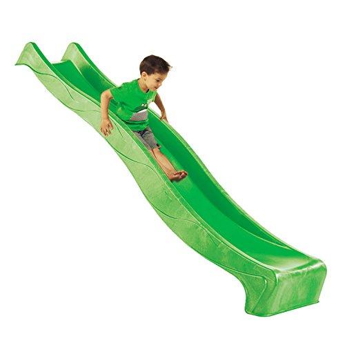 Rutsche Spielturm Wellenrutsche Gartenrutsche Kinderrutsche Anbaurutsche 2,90 m - Grün