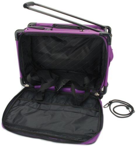 TUTTO Machine On Wheels Case 20″X13″X9″-Purple