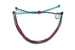 Pura Vida Wave Catcher Bracelet - Handcrafted with Iron-Coated Copper Charm - Wax-Coated, 100% Waterproof