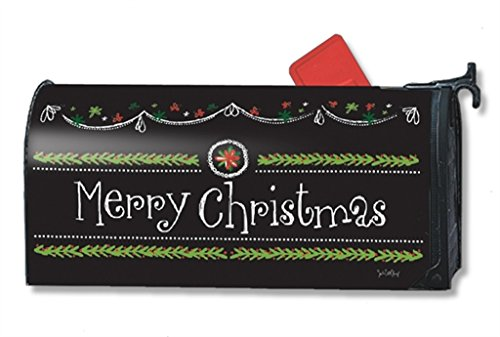 MailWraps Blackboard Christmas MailWrap Mailbox Cover 00125