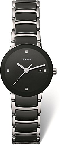 Rado R30935712 Centrix Ceramic Ladies Watch - Black Dial