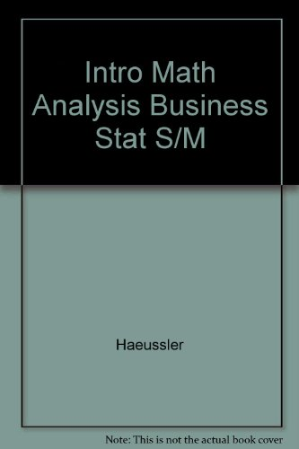 Intro Math Analysis Business Stat S/M
