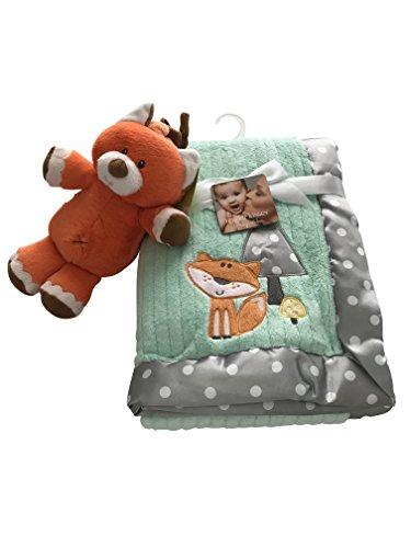 Infants' Plush Blanket - Polka Dot & Fox with Bonus Orange Fox Musical Plush Baby Toy
