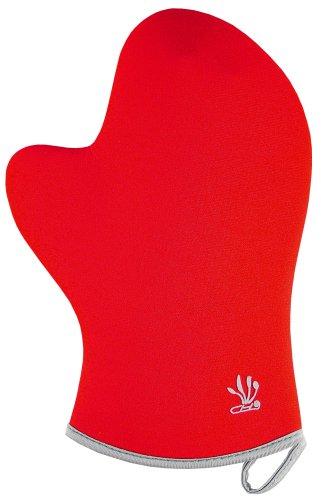 Funda de neopreno barbacoa guante para horno, color rojo
